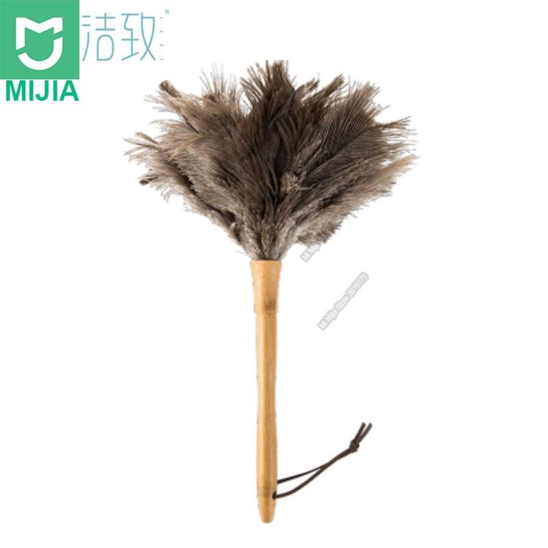 Apuesto Xiaomi Youpin Pluma De Avestruz Suave Cepillo Limpiador De Polvo De Pelo Adsorción Aire Acondicionado Muebles Herramienta De Limpieza Para El Hogar
