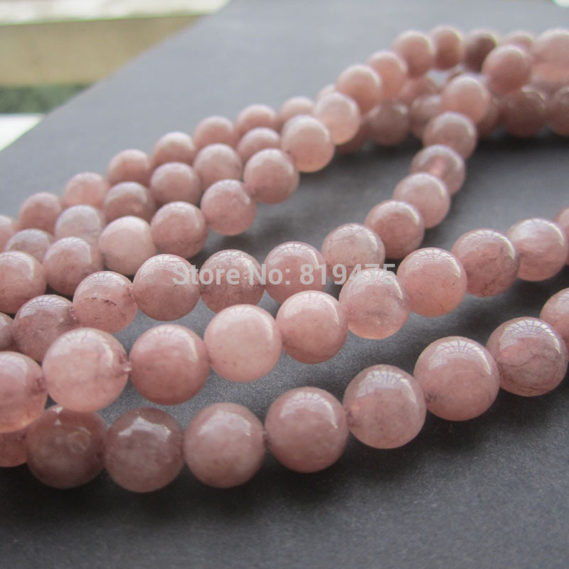 (60 pieces/lot) 1string about 40cm 6mm beads natural white stone colorated loose beads Brown color