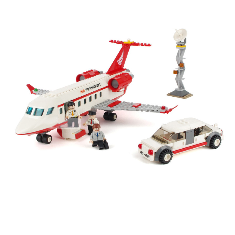 334 Pcs Air Plane Passenger Airport Building Blocks Bricks Educational Toys for Children Compatible with major brand gift