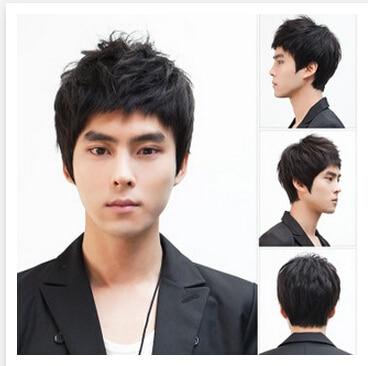 Haute qualité noir 100% synthétique cheveux