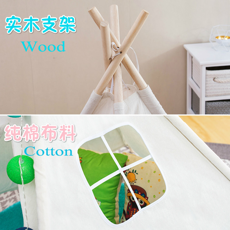 Indian Children Play Tent Cotton White Toy Tipi Tent For Kids Brinquedos Para Bebe Cartoon Baby Tent Dream Oyuncak Wigwam