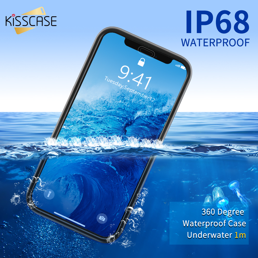 uk availability ba613 0573a US $2.99 20% OFF|KISSCASE Waterproof Case for iPhone X XS Max XR 360 Full  Protective Case for iPhone 5 5S SE 6S 6 7 8 Plus Photography Underwater-in  ...