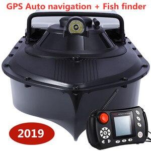 Рыбацкая лодка RC лодка рыболокатор GPS авто навигация рыболовная приманка лодка 2,4G GPS играющее гнездо лодка с 8 шт. целевой пункт
