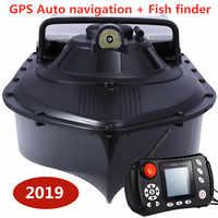 Angeln schiff boot RC boot Fisch finder GPS Auto Navigation Angeln Köder Boot 2,4G GPS Spielen nest boot mit 8 pc ziel punkt