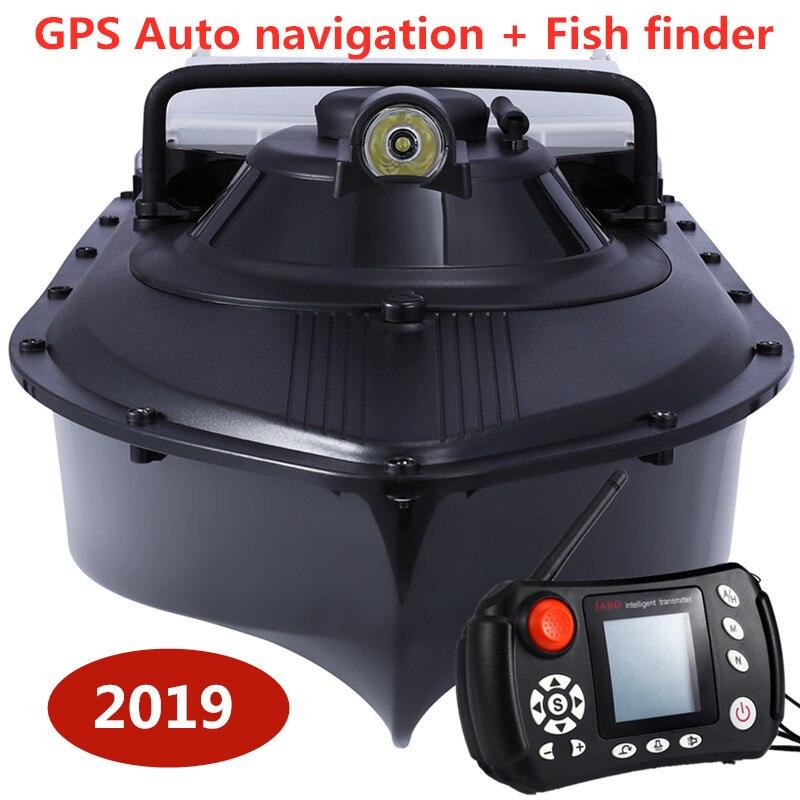 Barco de pesca RC barco buscador de peces con GPS navegación automática cebo de pesca barco 2,4G GPS juego nido barco con 8 piezas de punto de destino