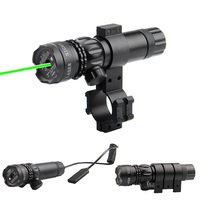 5 mw 532nm Haute Puissance Tactique Laser Vert avec Picatinny Rail montage Barrel Mont pour Fusils AR 15 AR15 et Fusils de Chasse 3-0001G