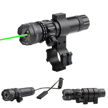 Tactical Hunting Green Dot Laser Sight Scope 20mm Rail Picatinny Mount Gun Rifle HT3-0001 tactical 625 660 nm pressure switch 11mm 20mm rail barrel mount scope mount red green dot laser sight for gun hunting