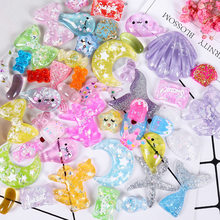 20pcs/bag Transparent Sequins Unicorn Mermaid Tail Slime Supplies Polymer Clay Charms DIY Glue for Clay Crystal Mud Slime Filler(China)