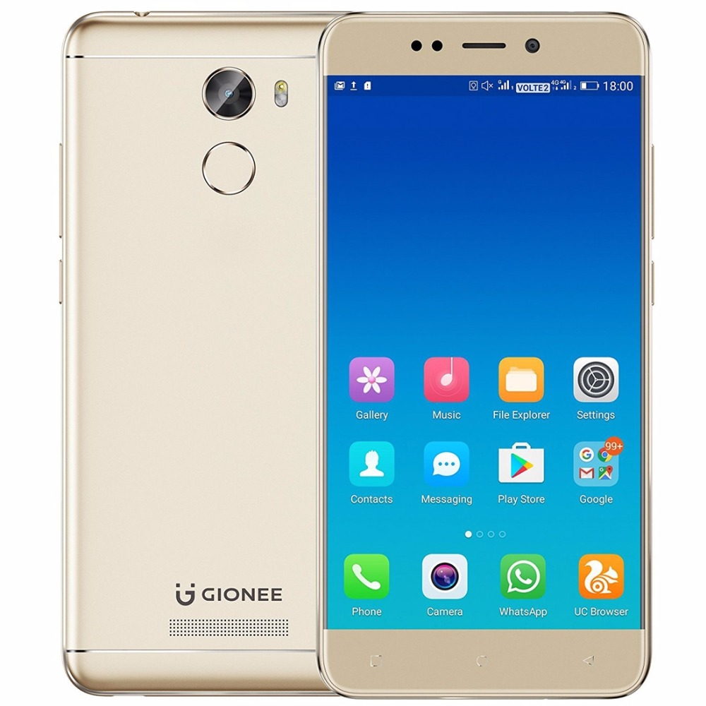Gionee X1S 5 2 IPS Screen Mobile Phone Android 7 0 MTK6737T Quad Core 3GB RAM