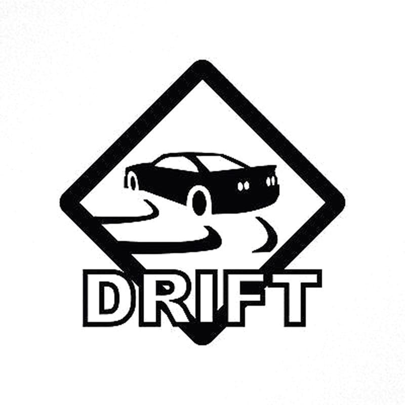 15X15CM DRIFT Road Sign Originality Vinyl Decal Black/Silver Motorcycle Car Sticker S8-0349 car