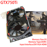 128Bit PCI E Extended Port Game Graphics Card For GTX750Ti 2G GDDR5 High Quality Video Card