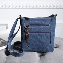 Fashion blue denim shoulder bags women handbag satchels ladies crossbody sling bag classical messenger bag cowboy bags
