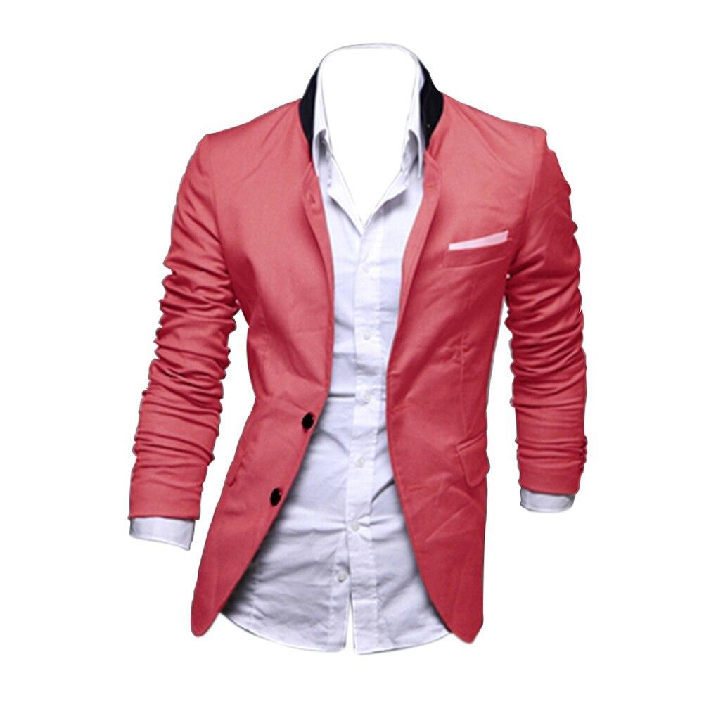 Casual Slim Fit Two Button font b Suit b font Blazer Coat Jackets 3 color