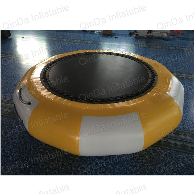 4 meters dia inflatable water trampoline for sale, sea summer funny sport games inflatable trampoline on water lake or ocean inflatable funny water sports game water trampoline with air pump and repair kit