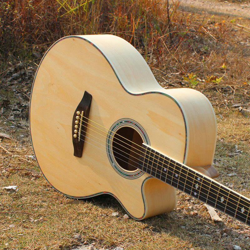 Made in China Acoustic guitar bass wood top back and side rose Fingerboard can Install pickups Musical Instruments Wholesale new electric bass neck custom 4 strings guitar necks made in china musical instruments