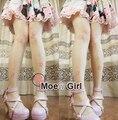 Cute Lolita Girls Japanese Kimono Style Sakura Flowers Thin Tights 30D Velvet Tights (for height within 168cm)