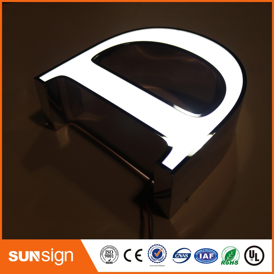 Custom Steel Letters Magnificent Custom Illuminated Mirror Stainless Steel Letters Sign Illuminated Inspiration Design
