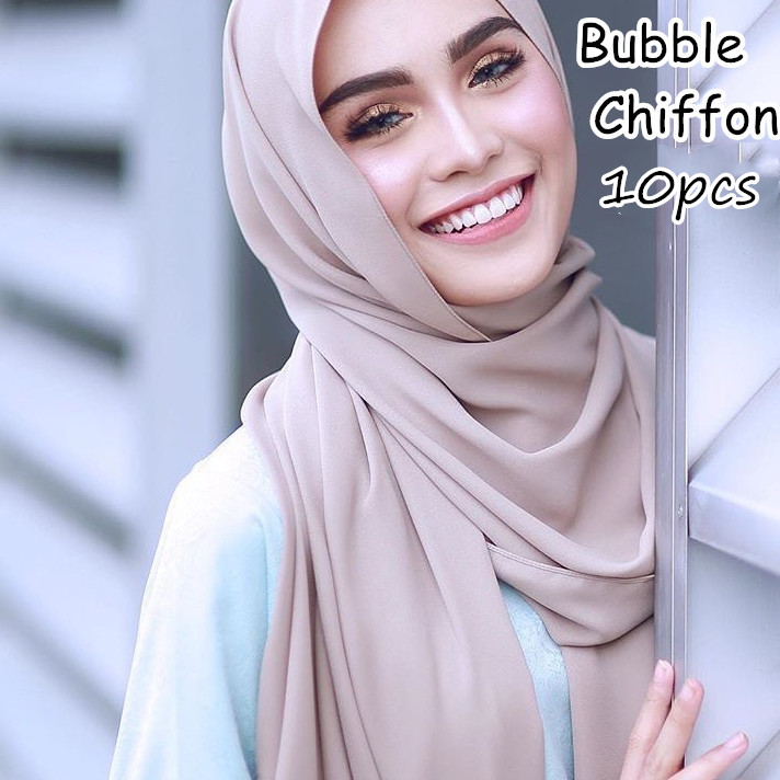 M2 10pcs Hot sale plain bubble chiffon hijab   scarf   shawl   wrap   lady headband women   scarf  /  scarves   180*75cm