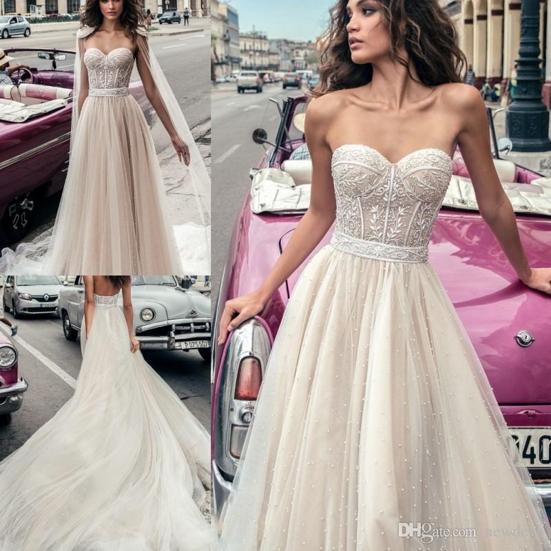2019 Julie Vino Full Beaded Wedding Dresses With Wrap