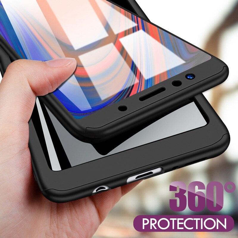 Znp 360 Volle Abdeckung Telefon Fall Für Samsung A5 A7 2017 2018 J4 J6 J8 A6 A8 Abdeckung Für Samsung A3 A5 2016 J7 J5 A7 Fall Mit Glas