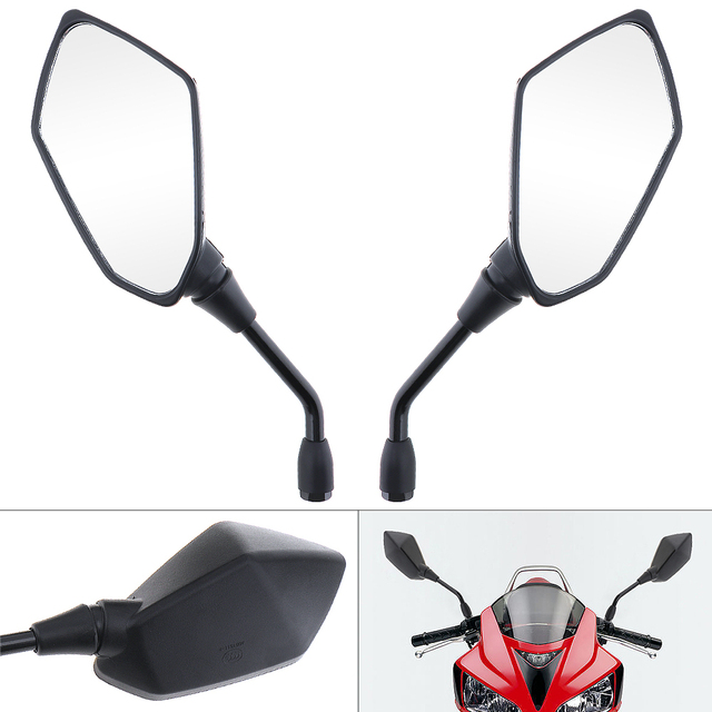 2pcs Universal Stylish design  Motorcycle Mirror Scooter E Bike Rearview Mirrors Electrombile Back Side Convex Mirror 10mm