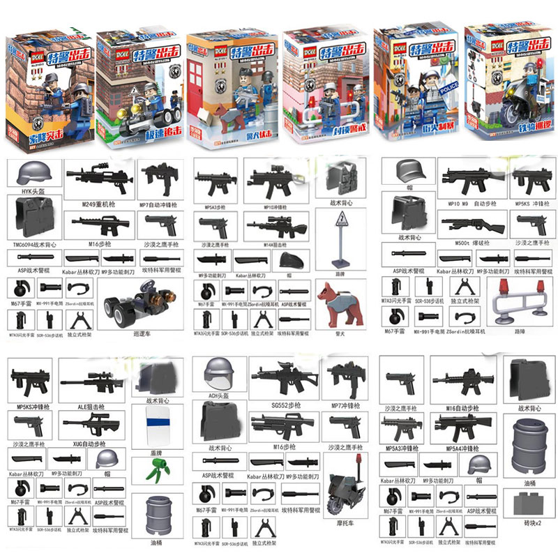 New Arrival City SWAT Policeman Special Forces Model Police Officer Tactical Unit Figures Building Blocks Bricks Toy For Kid 1711 city swat series military fighter policeman building bricks compatible lepin city toys for children