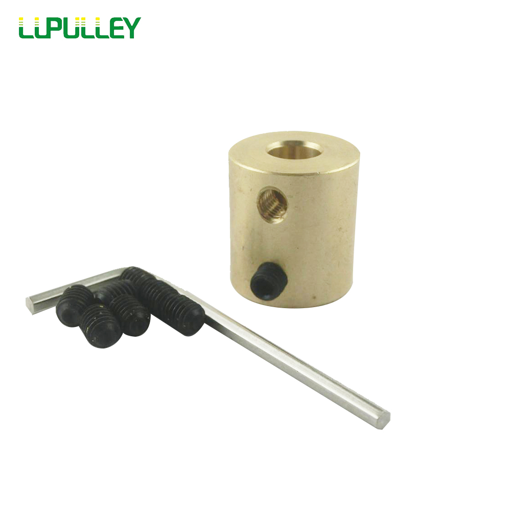 LUPULLEY 8/10/12mm to 12mm Inner Bore Diameter Brass Shaft Motor Rigid Coupling Coupler Width 20mm Length 22mm Hobby Hand Drill image