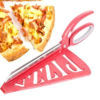 Hot Practical Detachable Large Pizza Scissors Stainless Steel Pizza Shovel Scissors Type Pizza Baking Tools Kitchen