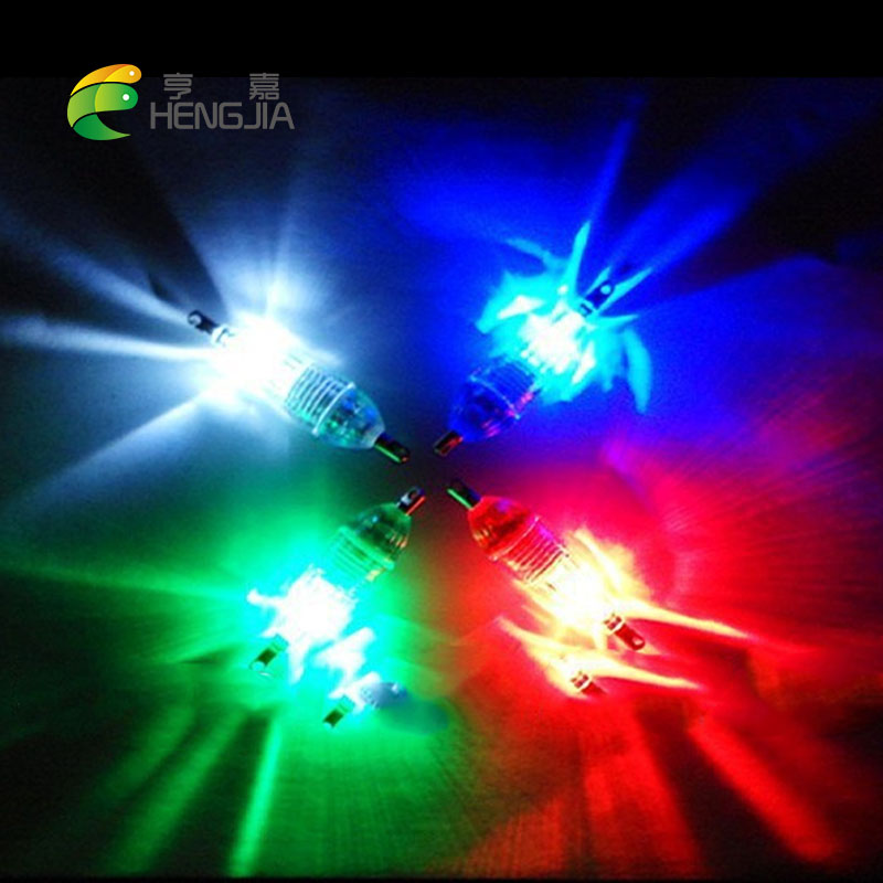 HENGJIA 100pcs LED fishing lamp Deep Drop Underwater light Fishing lures Squid Bait bass Flashing baits pesca fishing tackles