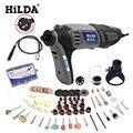 HILDA 220 В 180 Вт Переменной Скоростью Вращающегося Инструмента Dremel Электрический Мини Дрель с Гибким Валом и 133 шт. Аксессуары