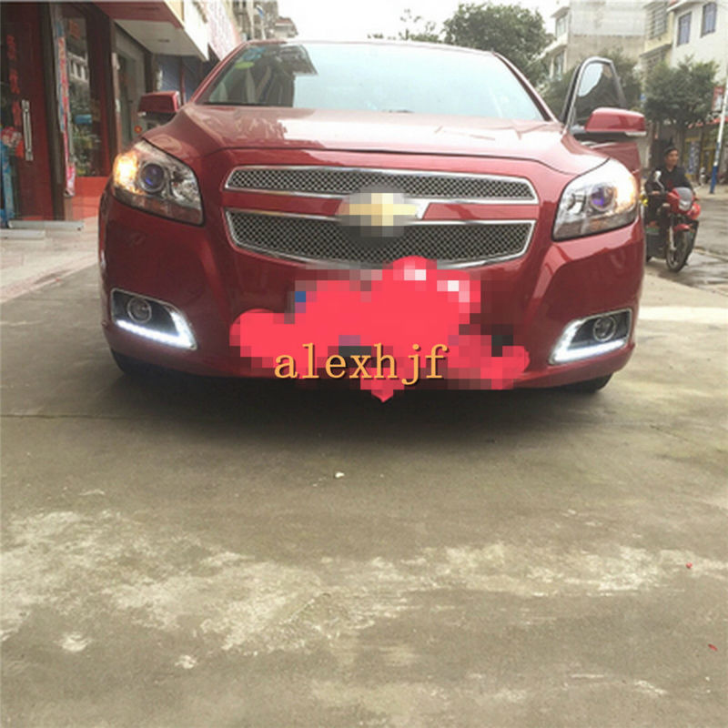 July King LED Daytime Running Lights DRL With Fog Lamp Cover, LED Fog Lamp case for Chevrolet Malibu, L-B type july king led daytime running lights drl with fog lamp cover case for chevrolet malibu 2012 15 1 1 replacement free shipping