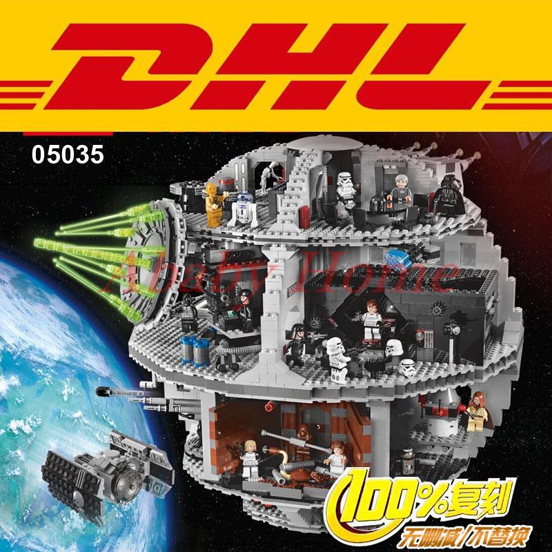Star Wars Death Star font b LEPIN b font 05035 3804pcs Building Block Bricks Toys Kits