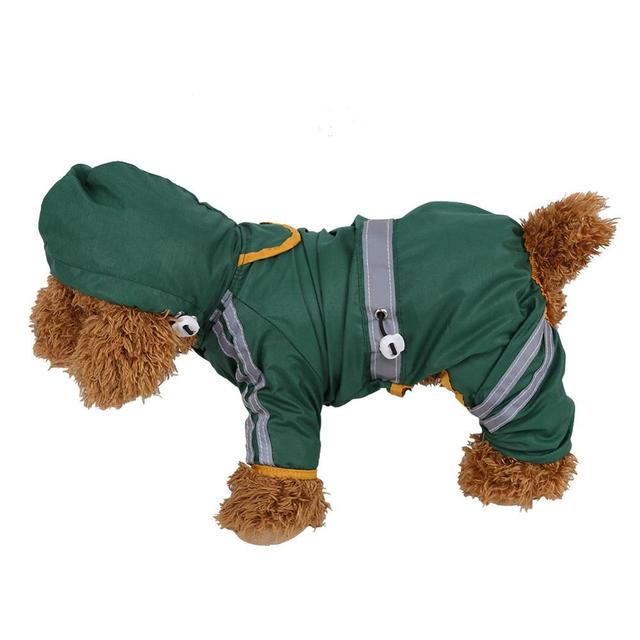 HURRISE Waterproof Dog Clothes Fashion Pet Dog Raincoat Puppy Dog Cat Hoodie Rain Coat Small Dog Jacket Clothes Pet Supplies Hot