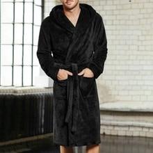 Новинка, мужские халаты и кимоно, хлопковый бархатный халат кораллового цвета, банный халат, халаты, весенние пижамы, Длинные пижамы, размер платья