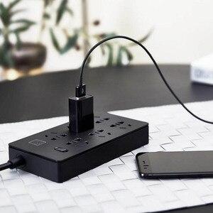 Image 2 - Oryginalny Youpin TP 6 porty gniazdo zasilania zabezpieczenie przed przeciążeniem 750 zmniejszających płomień domu elektroniczny rozszerzenie gniazdo czarny