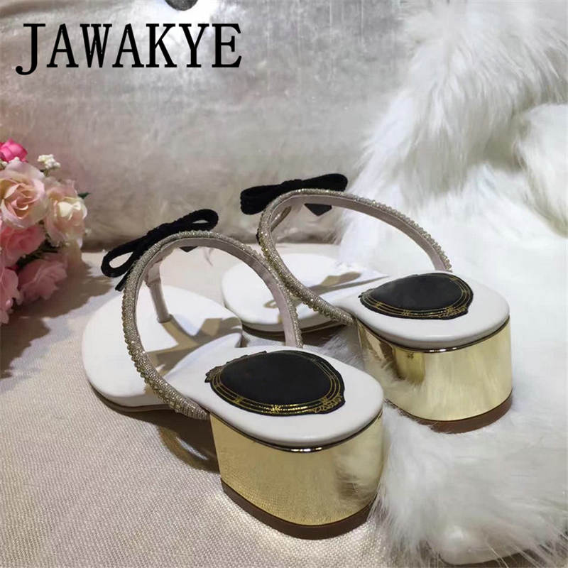 20ed37303f5 ... Sandals JAWAKYE Summer Women Shoes Flat Shoes Sandalias Woman mujer  heels Low Bowtie Ladies Fashion Flats