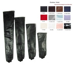 custom made 30cm to 80cm long top sheep leather evening opera gloves 12 colors to choose