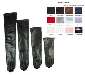 Evening-Opera-Gloves Top-Sheep-Leather Long Custom-Made 30cm 80cm 12-Colors Choose