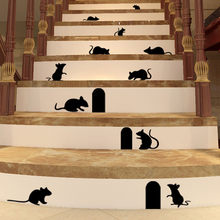 Adesivo de parede decorativo para escada, adesivo para escadas engraçado diy de vinil para casa