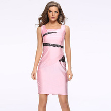 vestidos Dress vestido sexy De Festa dresses women lace evening Party summer robe Femme jurken Pink woman sleeveless 2017 satin