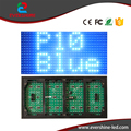 p10 outdoor single blue led display module p10 DIP 32x16 pixel 320x160mm led message panel board
