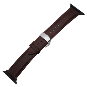 Image 3 - איטליה אמיתי עור רצועת השעון עבור iWatch אפל שעון 38mm 40mm 42mm 44mm סדרת 5 4 3 2 פרפר אבזם להקת מטורף סוס רצועה