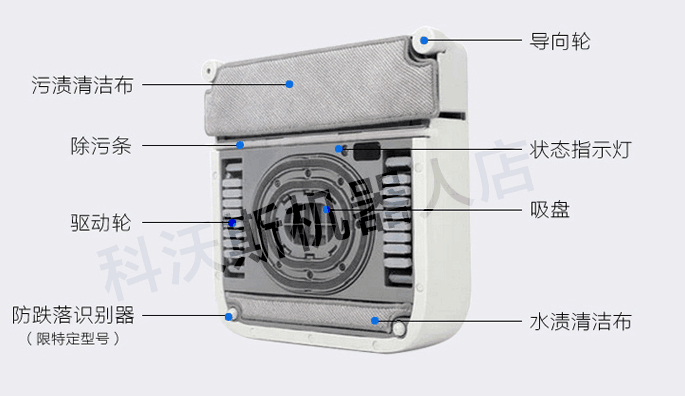 Free DHL Ranunculaceae ecovacs worsley window fully-automatic wrn710 window robot intelligent wipe window device vacuum cleaner