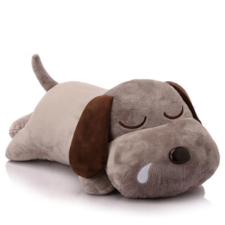 Cute Dog Plush Pillow Cute Animal Soft Stuffed Plush Toys Gray Puppy Peluches De Animales Dog Birthday Gift For Children 50C0108 stuffed dog plush toys black dog sorrow looking pug puppy bulldog baby toy animal peluche for girls friends children 18 22cm