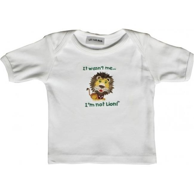 Lil Cub Hub 1WSSTL-612 White Short Sleeve T-Shirt – Lion 6-12 months