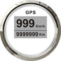 1 шт. gps спидометры 52 мм Диаметр спидометров 12 В/24 В подходит для автомобильной лодки с gps антенной белый