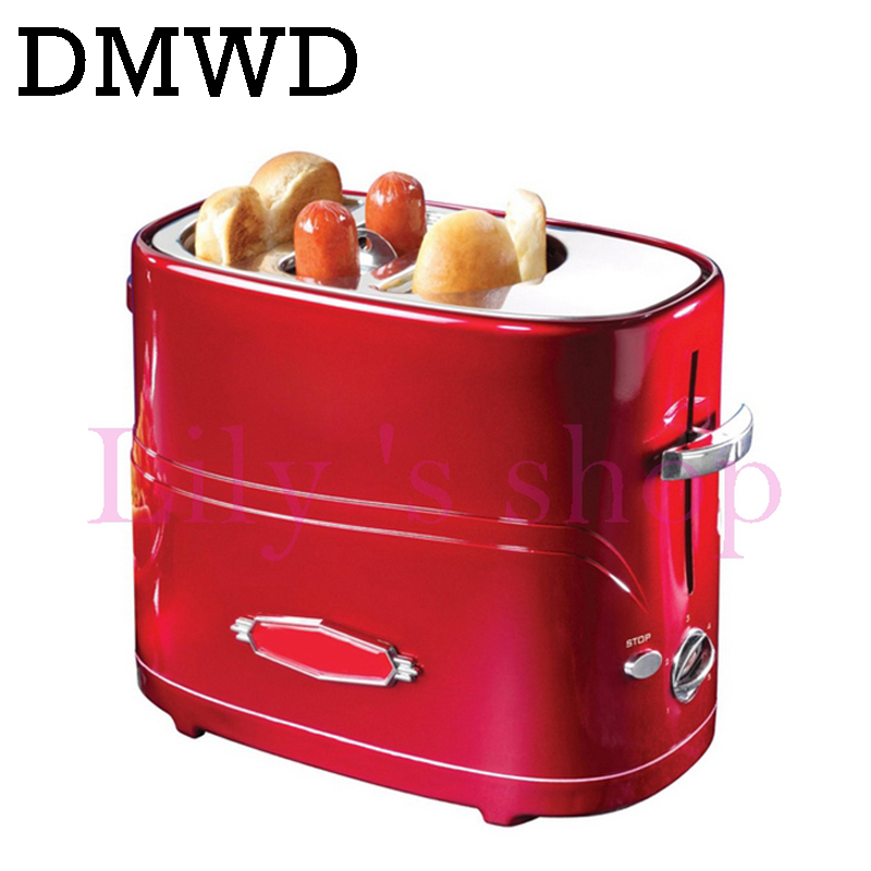 DMWD Household automatic electrical toaster toast baking machine Sausage bread oven grill hot dog breakfast maker 2 Slices EU US cukyi 2 slices bread toaster household automatic toaster breakfast spit driver breakfast machine