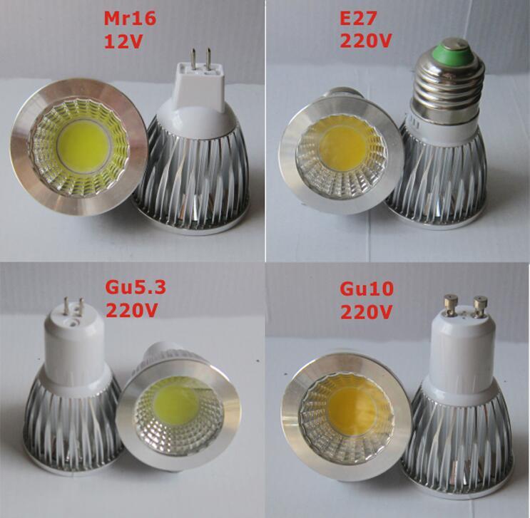 Удара GU10 GU5.3 <font><b>E27</b></font> E14 MR16 12 В лампада Светодиодная лампа 220 В 110 В 3 Вт 5 Вт 7 Вт Bombillas Светодиодный прожектор Lamparas светодиодные лампы