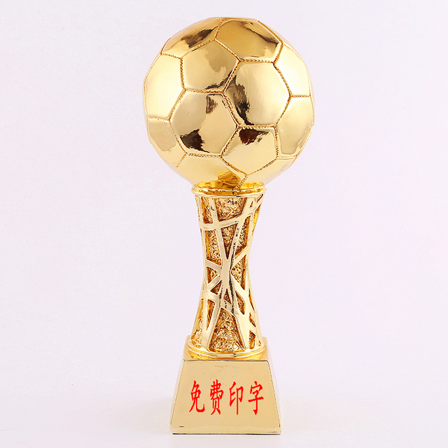 High Quality Football Basketball Gold Plated Trophy Engraved Name Big Sporting Events Large Size