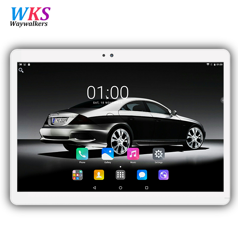 Newest 10.1 inch tablet pc Android 7.0 octa core RAM 4GB ROM 32/64GB Dual SIM Bluetooth GPS 1920*1200 IPS tablets free shipping waywalkers 10 inch tablet pc android 7 0 octa core ram 4gb rom 32 64gb 1920 1200 ips dual sim wifi bluetooth gps tablets phone